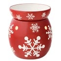 Snowflake-Red Scentsy Warmer