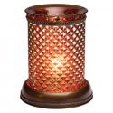 Brown Diamond Lampshade Scentsy Warmer