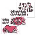 Peace Sign Black Scentsy DIY Theme Pack