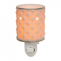 Diamond Milk Glass Scentsy Warmer