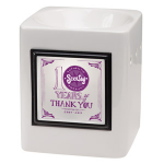 Sleek White Scentsy Warmer with Thank You Frame