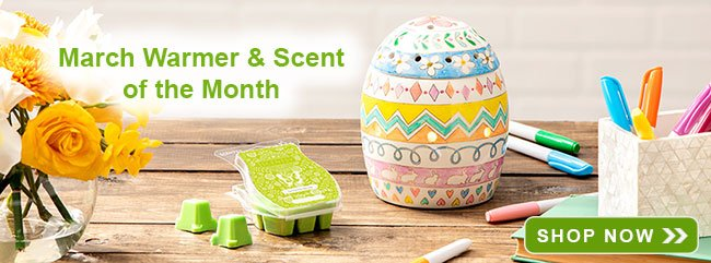 March Warmer and Scent of the Month