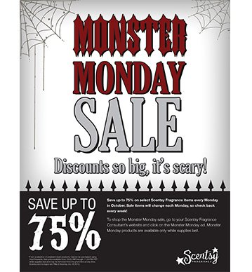 Scentsy-Monster-Monday-Sale