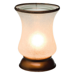 White Crackle Tulip Lampshade Scentsy Warmer