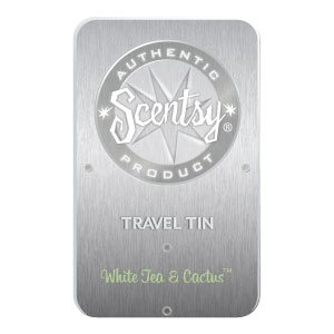 White Tea and Cactus Scentsy Travel Tin