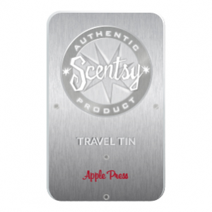 Apple Press Scentsy Travel Tin