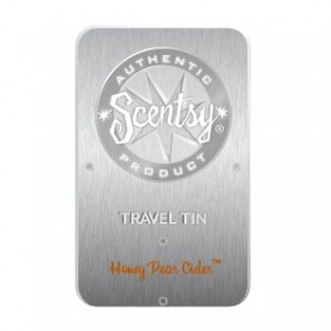 Honey Pear Cider Scentsy Travel Tin