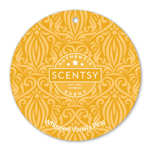 Whipped Vanilla Pear Scentsy Scent Circle