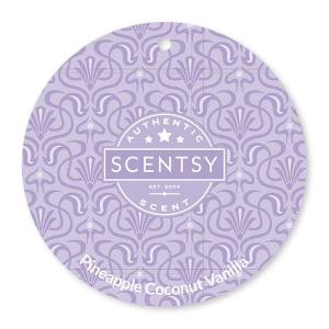 Pineapple Coconut Vanilla Scentsy Scent Circle