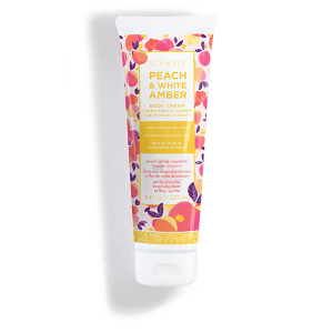 Peach and White Amber Scentsy Body Cream