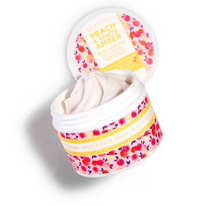 Peach and White Amber Scentsy Body Soufflé