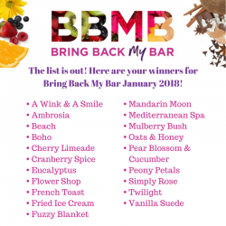 Bring Back My Bar Winners January 2018