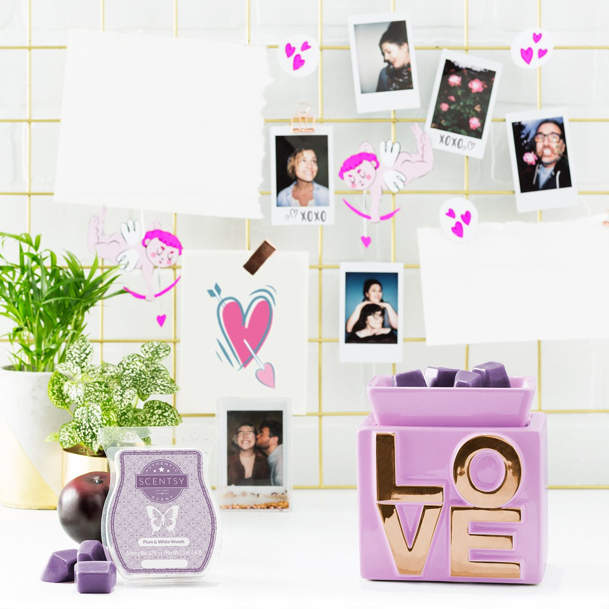 February 2018 Scentsy Warmer Of The Month Love Scentsy